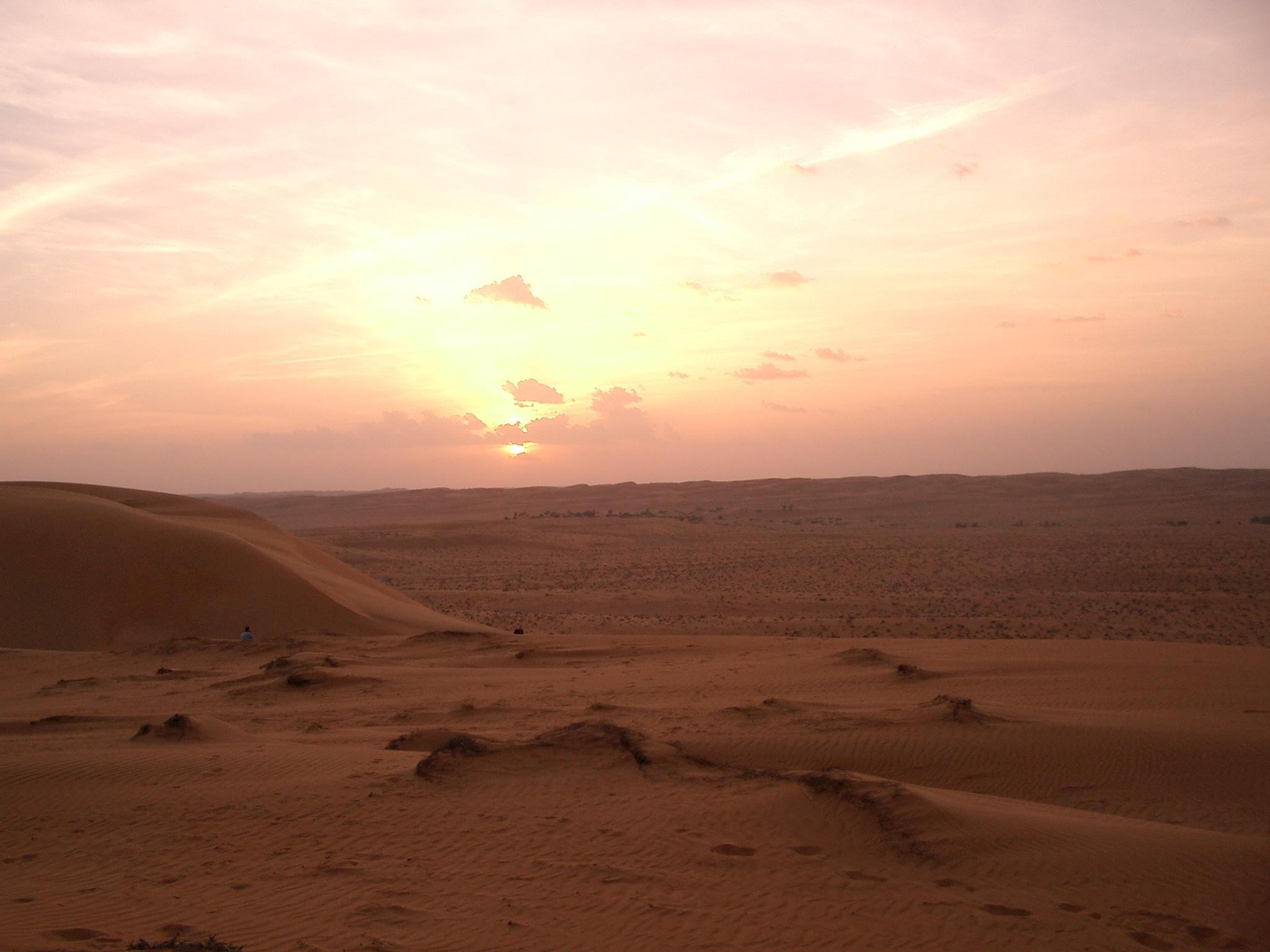 S-stock: Wahiba sands sunset