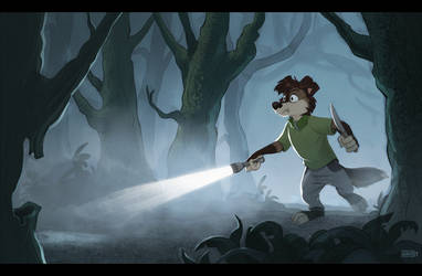 Dog in the fog by Greevixor
