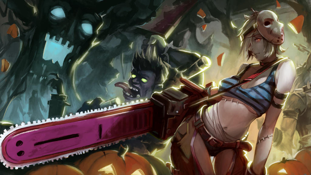 Resultado de imagem para fan skin halloween league of legends