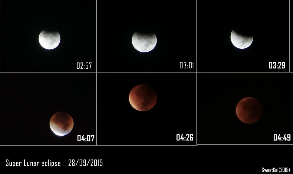 Super Blood Moon Eclipse, 28 september 2015 by SweetKai91