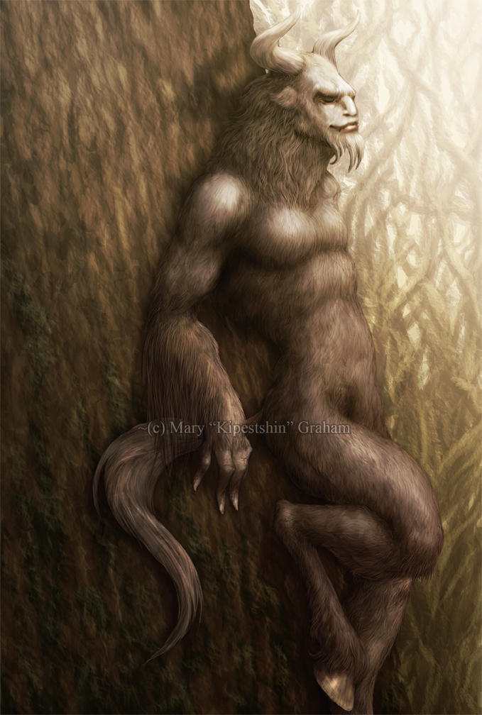 Closed Eyed Satyr by Kipestshin