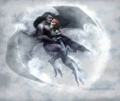 Goliath and Demona Together by Kipestshin