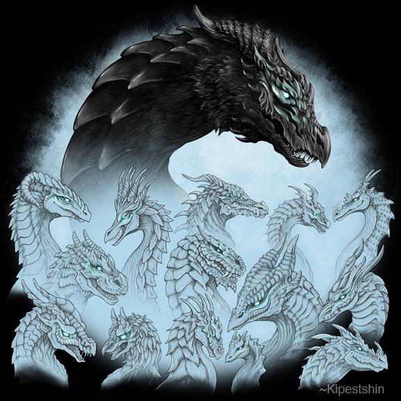 Dragons Together by Kipestshin