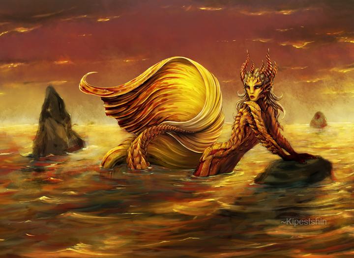Golden Fishman by Kipestshin