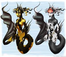 Koi Mermaids 1 by Kipestshin