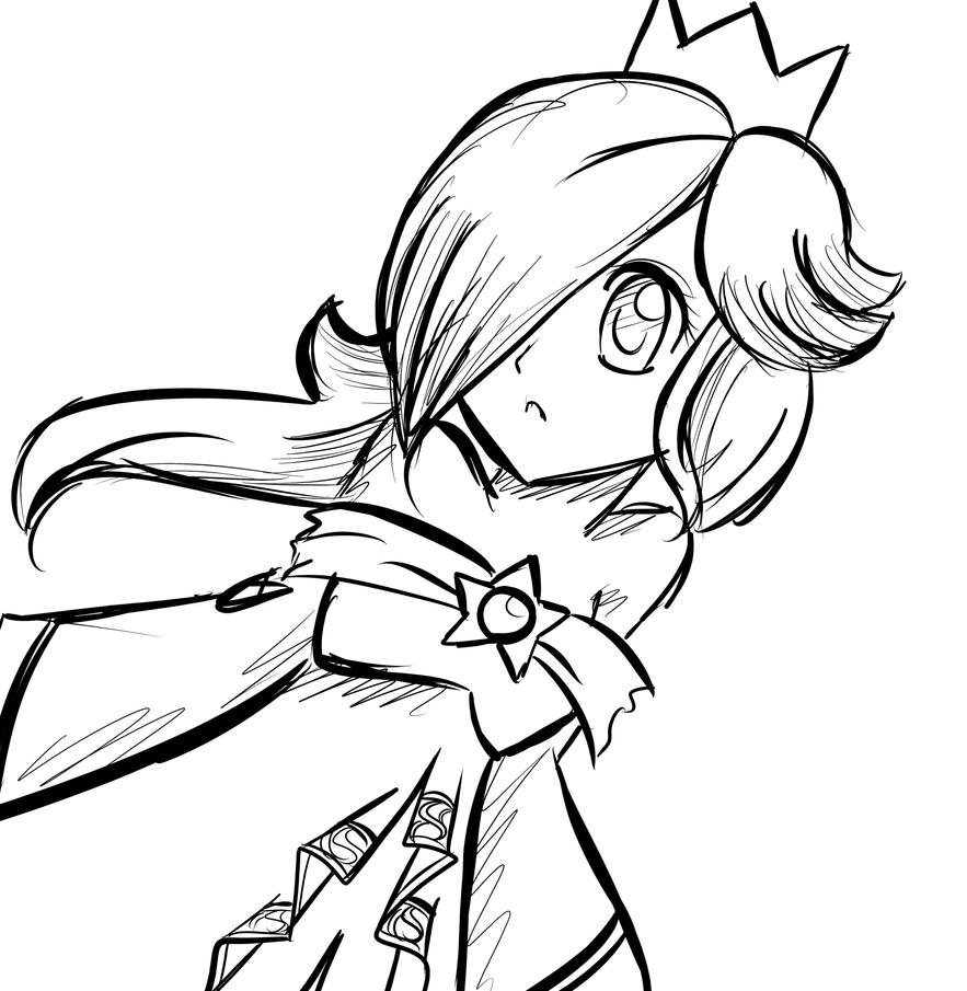 Princess rosalina coloring pages - Rosalina Sketch 2 By Looji