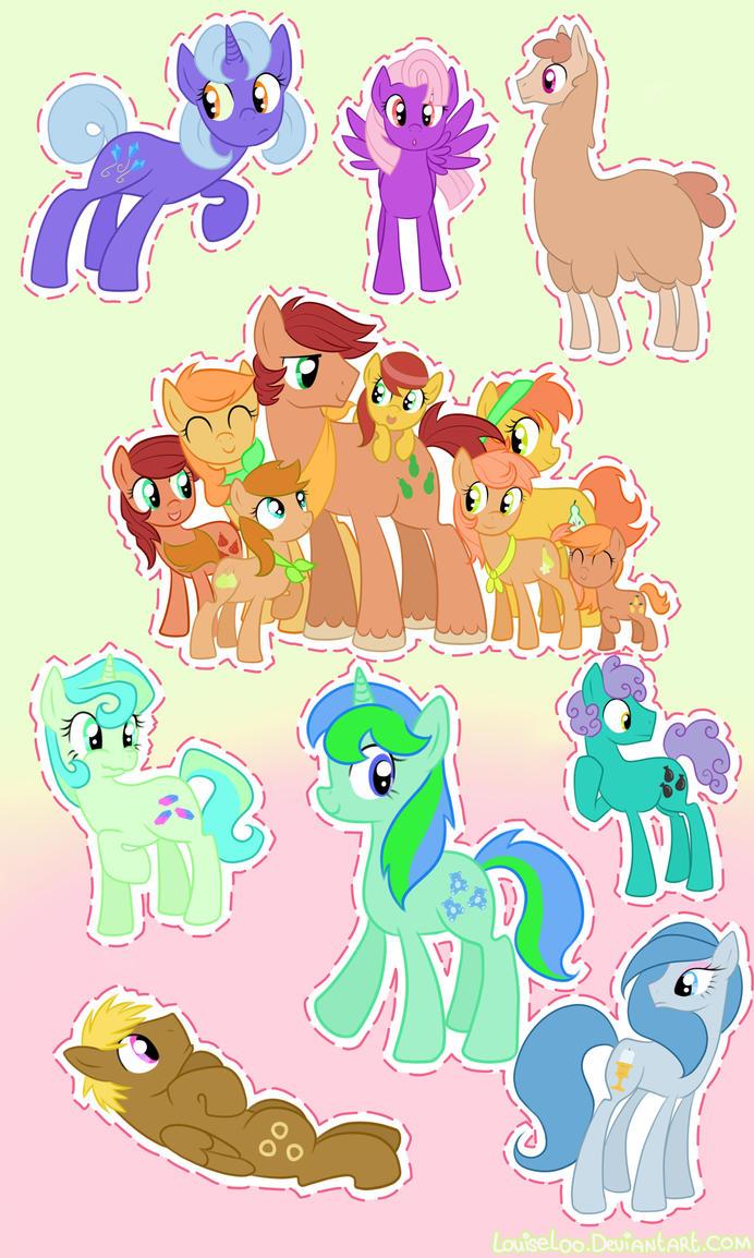 A Bunch of Ponies 5 by Looji