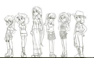 Mane Six sketch