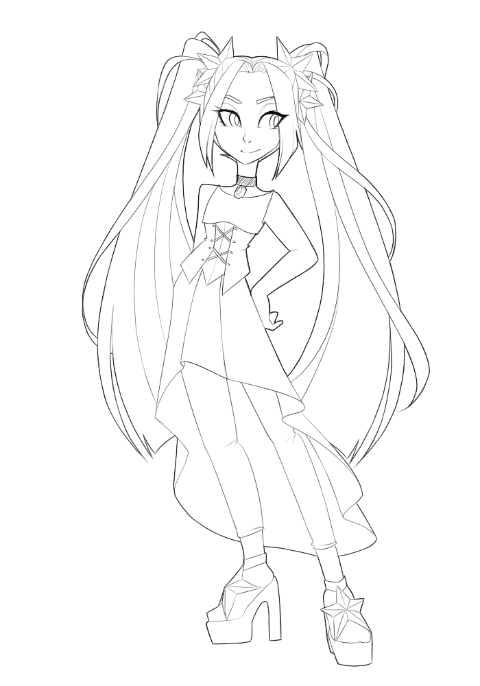 Aria Blaze Free To Use Lineart By Looji On Deviantart