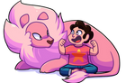 Steven and lion + VIDEO