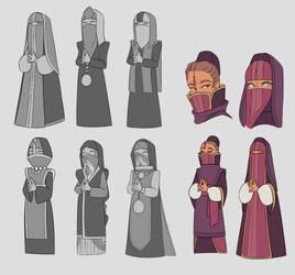 SHADE : monk and nun concept art