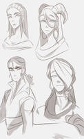 new character sketches kinda by Looji