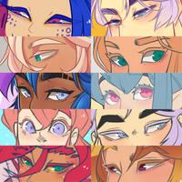 that eye meme everyone is doing by Looji