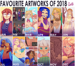 FAVOURITE ARTWORKS OF 2018 by Looji