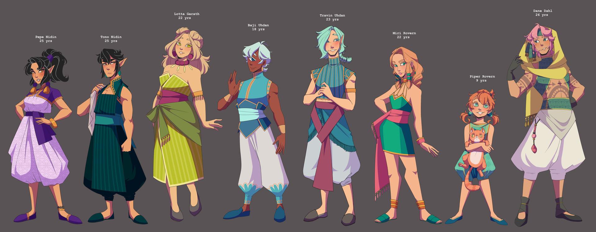 Character designs prt 2 by Looji