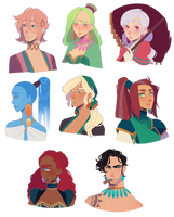 here have some characters by Looji