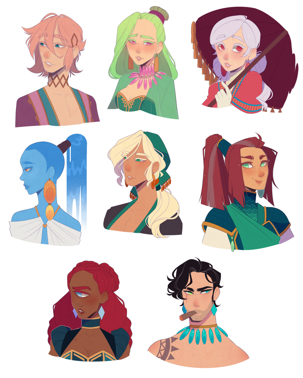 Here Have Some Characters By Looji On Deviantart