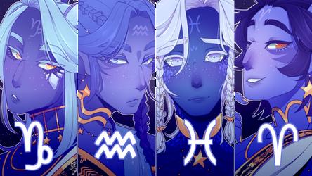 SPEEDPAINT Zodiac princes part 1