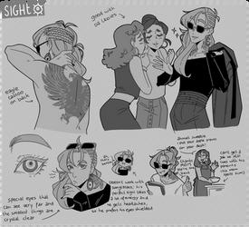 THE 5 SENSES - sight sketches
