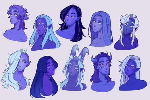 Zodiac Princes with their hair down