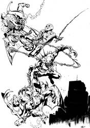 spiderman and anti venom vs the goblings