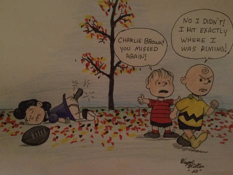 Charlie Brown football oops