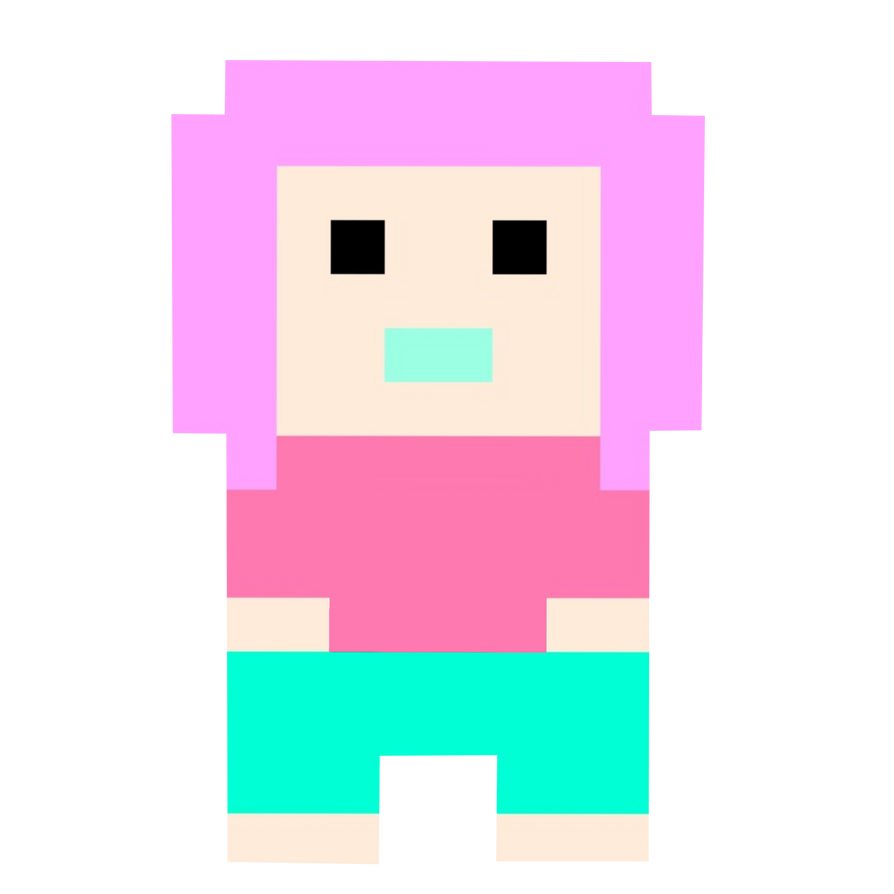 Pastel Goth Pixel Art TRANSPARENT OVERLAY By Mcjjang On