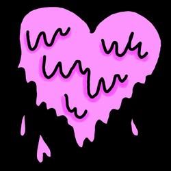 Heart Melting TRANSPARENT OVERLAY