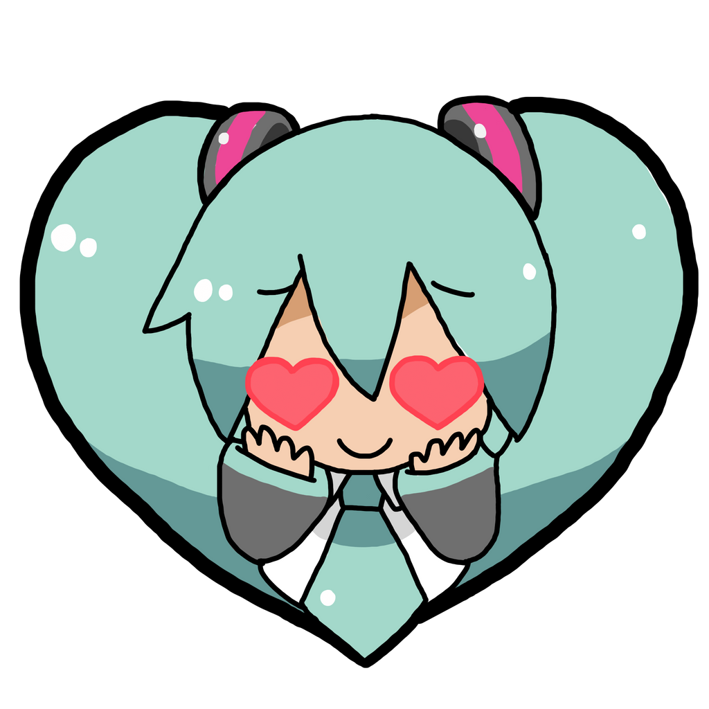 Hatsune Miku #1 PHOTO STICKER/TRANSPARENT OVERLAY By