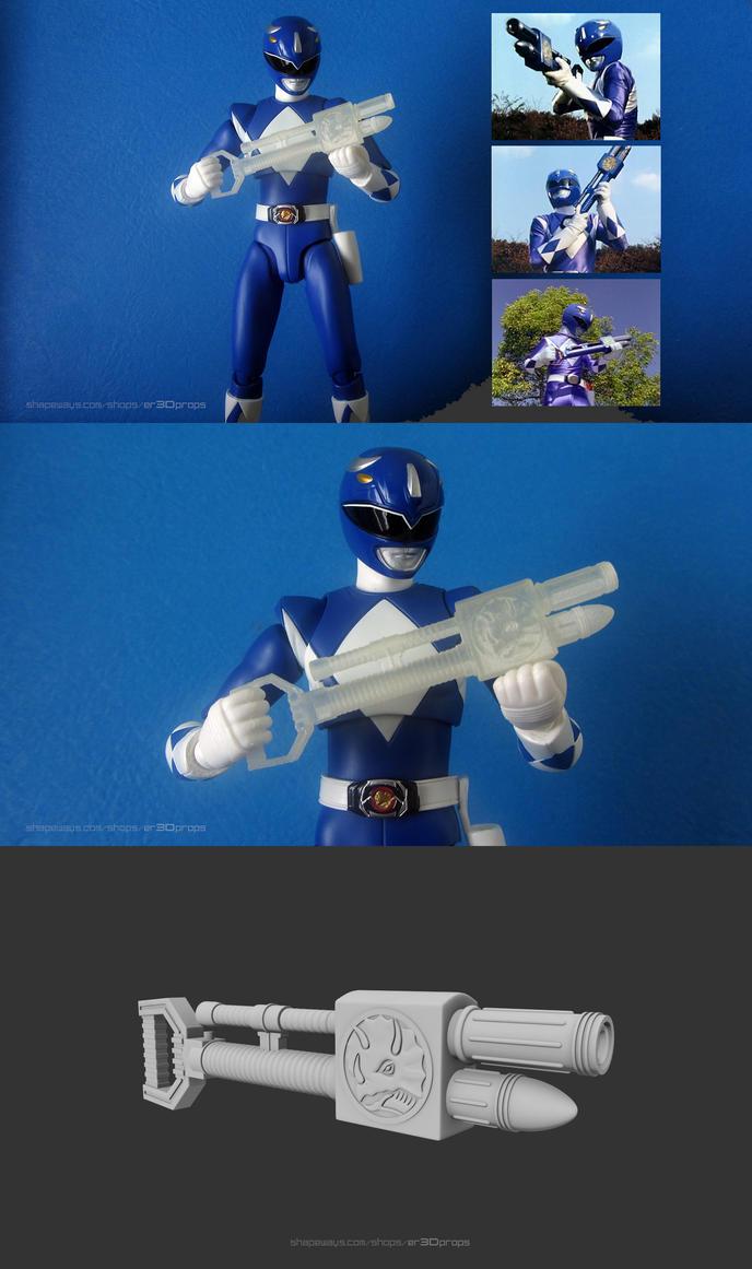 3D Printable Blue Ranger Foam Gun by Digital-Human