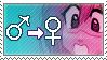 Boy 2 Girl Gender Bender Stamp by majorkerina