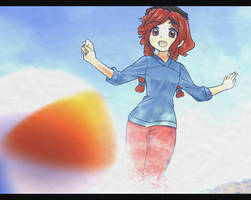 Abby at the Beach by Anirhapsodist by majorkerina