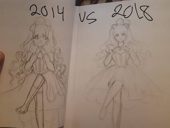 Redraw this : 2014 VS 2018 by mettephantom