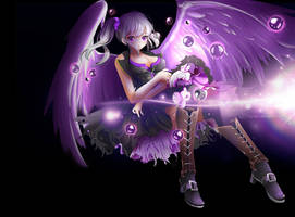 COMMISSION [anime girl with wings] with SPEEDPAINT by Lyika-KreoLisa