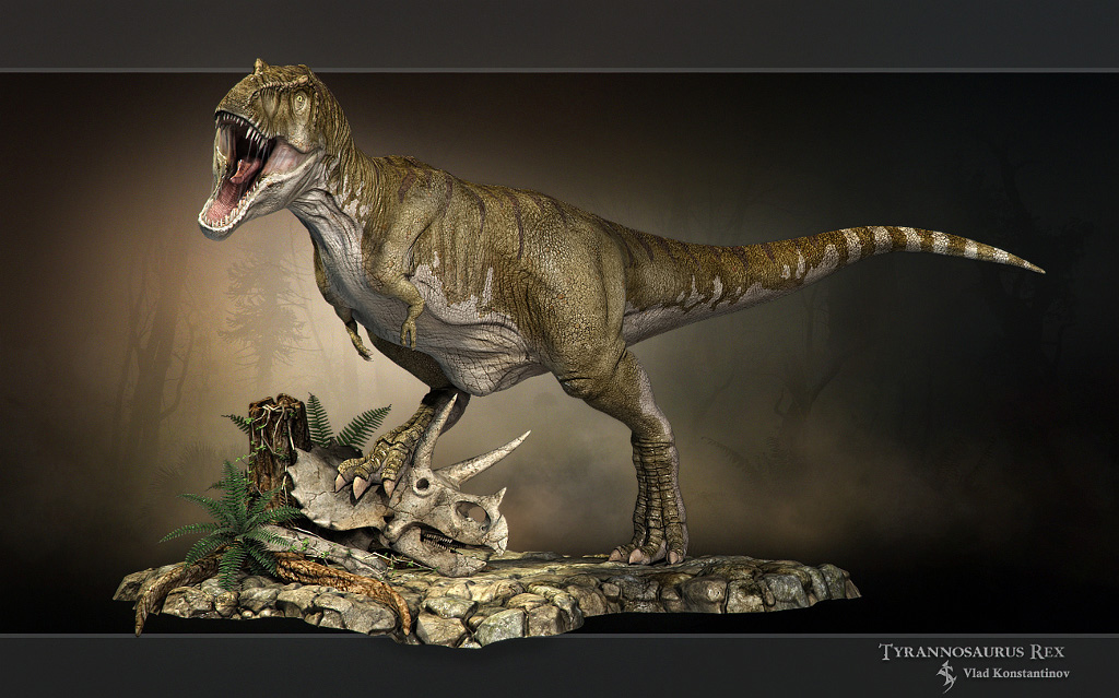 Tyrannosaurus rex_variant 3 by Swordlord3d