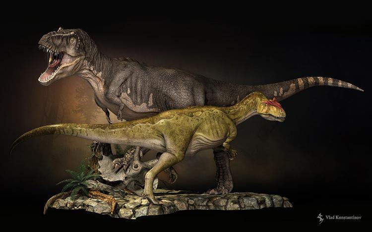 T-Rex compared to Allosaurus Zbrush Allosaurus