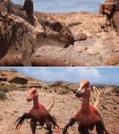 Protoceratops Velociraptor DR