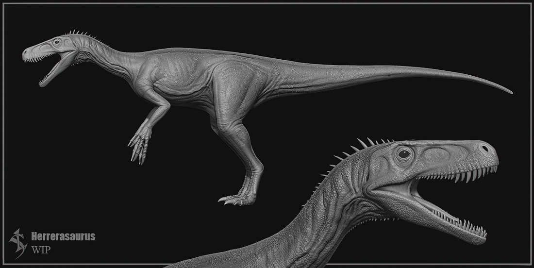 Herrerasaurus WIP by Swordlord3d