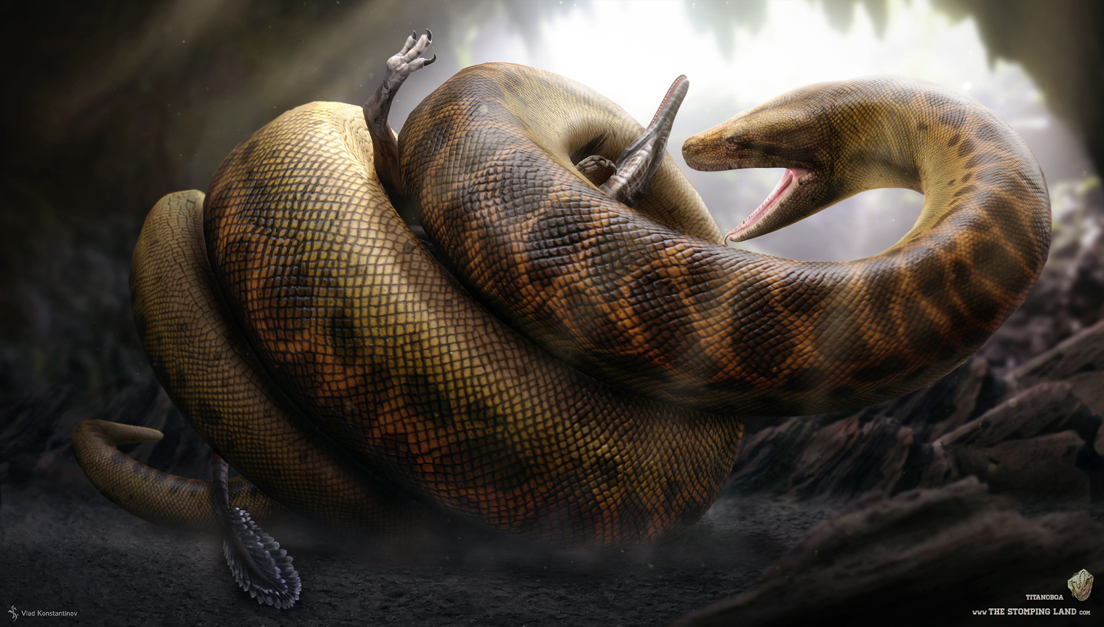 Titanoboa. The Stomping Land. 03 by Swordlord3d