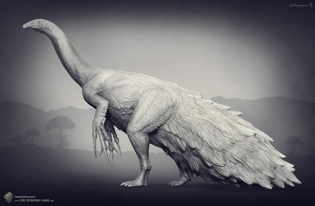 Therizinosaurus. The Stomping Land. 02 by Swordlord3d