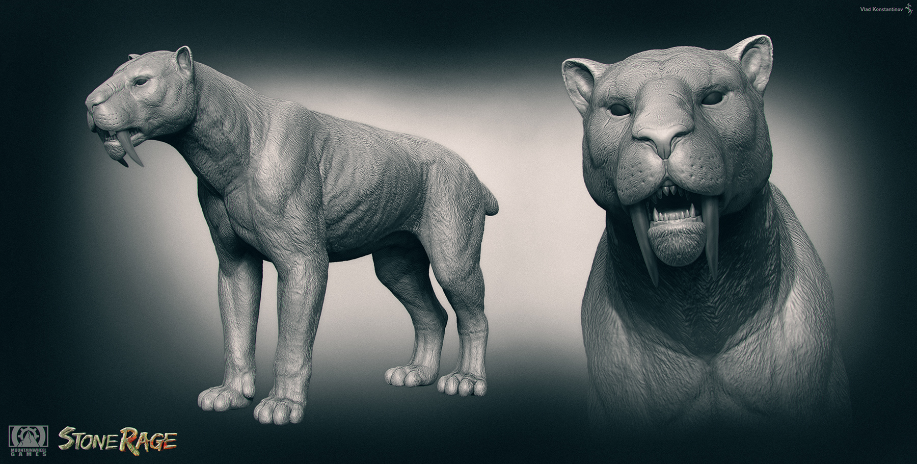 Saber-Tooth. Stone Rage. by Swordlord3d