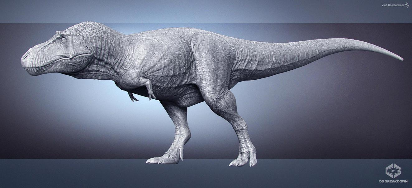 Tyrannosaurus. CG breakdown. WIP by Swordlord3d