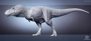 Tyrannosaurus. CG breakdown. WIP