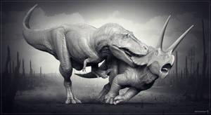 T.rex vs Triceratops. WIP