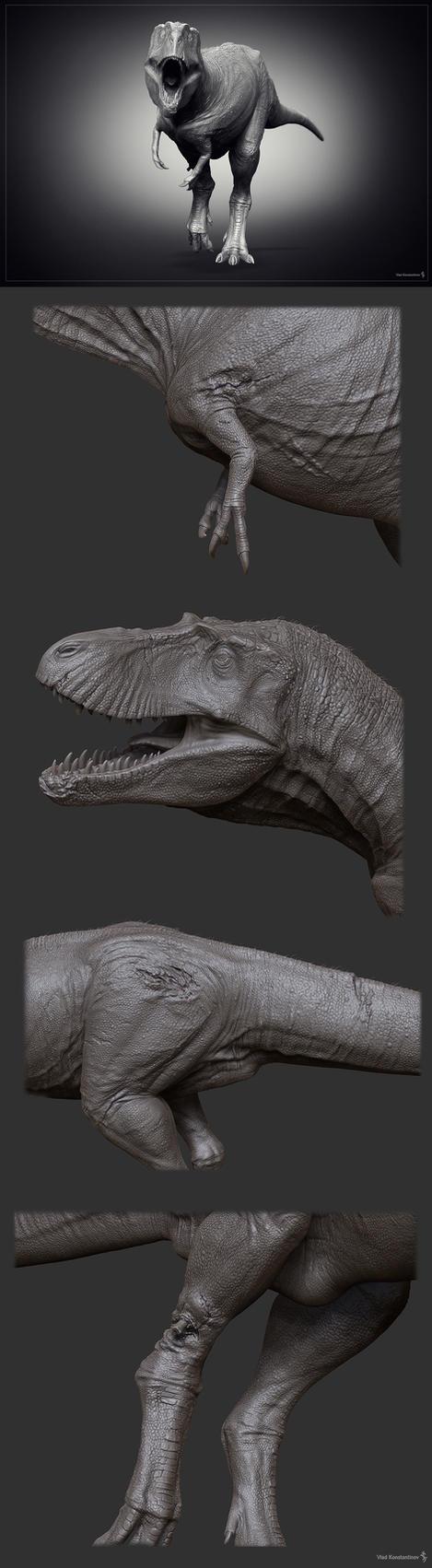 Gorgosaurus WIP by Swordlord3d