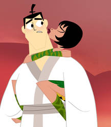 The REAL Surprise Attack - Samurai Jack and Ashi by EvaHeartsYou