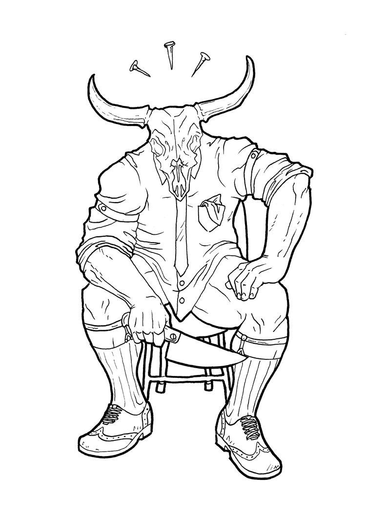 Line Art Human : All demons are human line art by arkahno on deviantart