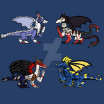 Inspired Dragon Adopts OPEN (4/4) by DragonGamer0713
