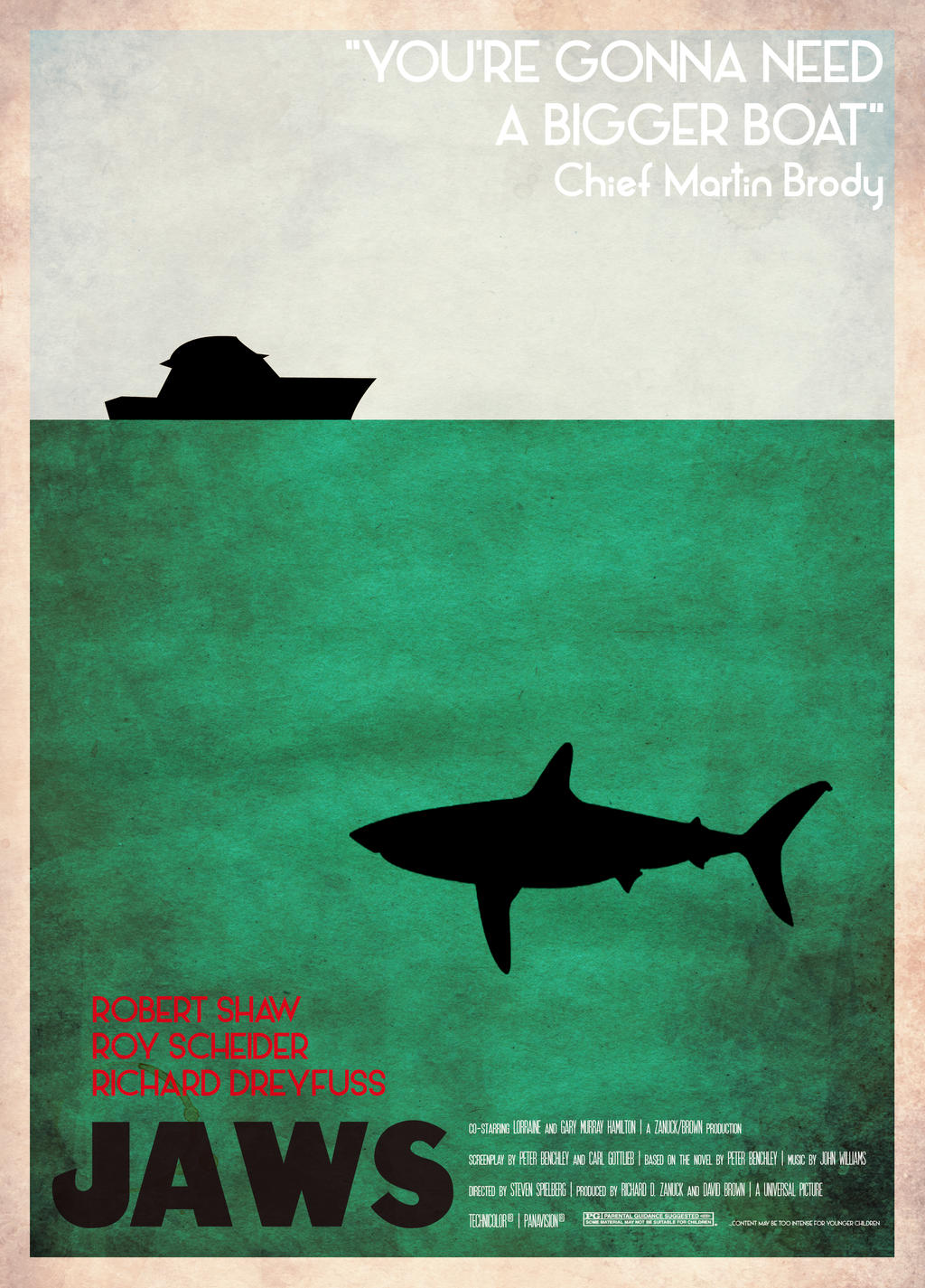 Retro Jaws Movie Poster by Muska23 on DeviantArt