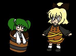 Yamame and Kisume by Mii-kami